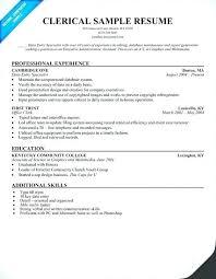 Sample Resume For Office Assistant Position Resume Office Clerk Thrifdecorblog Com