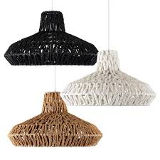 rustic woven ceiling pendant light shades