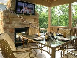 covered patio with fireplace outdoor ideas screened porch fireplaces
