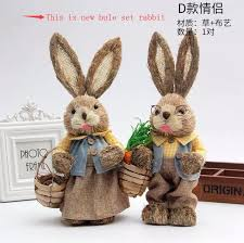 H33cm,<b>2pcs</b>/<b>lot</b>,<b>cute</b> Greeting Easter <b>rabbit and bunny</b> series straw ...