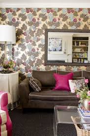 Living rooms with brown furniture Pinterest The Bright And Vivacious Shade Of The Color Pink Adds Personality To The More Neutral Brown And Brightens Up The Whole Atmosphere Architecture Lab Learn What Colors Go With Brown And How To Use Them