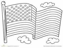Small Picture American Flag Worksheet Educationcom