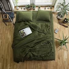 Green Linen Duvet Cover Custom Size Duvet Cover Green Linen & Green Linen Duvet Cover, Custom Size Duvet Cover, Green Linen Bedding,  Softened quilt cover, Linen doona cover, Green Duvet Cover Adamdwight.com