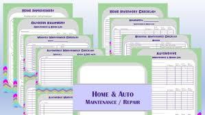 Auto Maintenance Logs Home And Automotive Repair And Maintenance Logs Digital