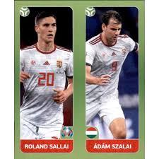 Riemua hienosta tasapelipisteestä hillitsi kuitenkin huoli kapteeni adam szalain kohtalosta. Panini Em 2020 Tournament 2021 Sticker 651 Roland Sallai Adam S 0 39