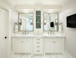 double bathroom vanities master bath tall cabinet in center of 2 sinks google search a bathroom
