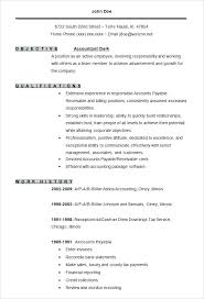 Resume Samples For Accounting Accountant Clerk Resume Template