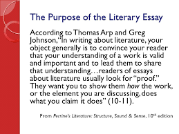 writing the literary essay ppt video online the purpose of the literary essay