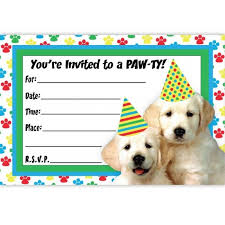 Awesome Dog Birthday Party Invitation Templates Idea