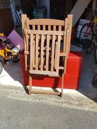 reclining wooden garden chair foldable