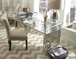 dining room table mirror top: turn a glass top dining table into a super chic workspace home