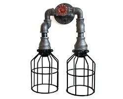 industrial pipe lighting. Industrial Pipe Lighting - Black Wall Sconce W/ Knob Bathroom Vanity Over