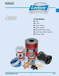 Spider Coupling Size Chart Jaw Coupling Lovejoy Pdf Catalogs Technical