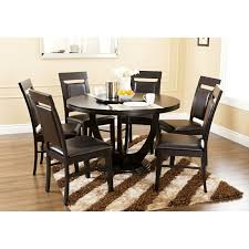 dining table set with lazy susan. abbyson living calvin 7 piece round dining set with lazy susan   overstock.com shopping table