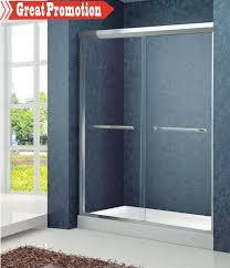double aluminum framed sliding shower doors
