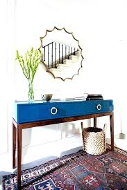 entryway round table tables foyer ideas console decor rustic cappuccino with drawers