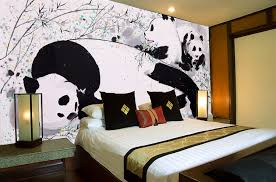 Free Shipping David Panda Cute Animal Photo Living Room Bedroom Wallpaper  Murals Decorate The Lobby Custom