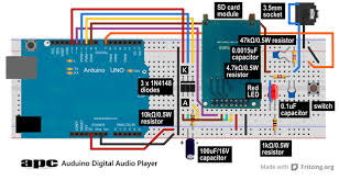 arduino project 5 digital audio player apc the circuit diagram for our digital audio player