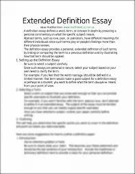 sample definition essay sample extended definition essay