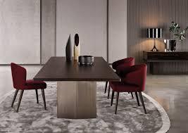 ... Charming Home Interior Design Ideas With Minotti Dining Table  Decoration : Lovely Rectangular Dark Brown Walnut ...