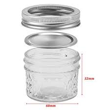 glass jars with lids verones quilted wide mouth