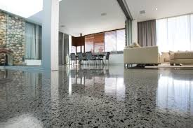 polished concrete residential floors