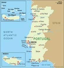 البرتغال المطارات خريطة - خريطة المطارات في البرتغال (جنوب أوروبا - أوروبا)