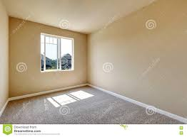 Light Grey Walls Beige Carpet Bright Empty Room With One Window And Beige Walls Stock