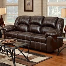 reclining sofa with pub back saddle stitching 1000 by