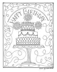 Happy Birthday Taart Kleurplaat Etsy With Happy Birthday Taart