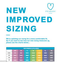 Charlie Jade Size Chart Primark Ditches Numbered Sizing In Favour Of S M L