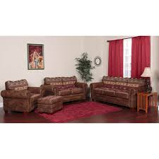 Brown Tapestry Sierra Mountain Lodge 4-piece Sofa Set - Free Shipping Today  - Overstock.com - 16414508