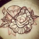 Diamond and rose tattoo designs
