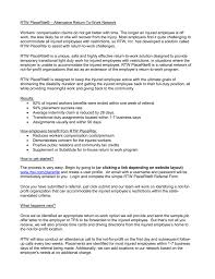 Light Duty Letter To Employer Absentia Services Rtw Placerite