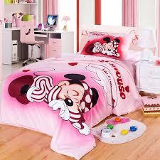 disney brand 100 cotton mickey mouse pink duvet cover cartoon bedding set sheet set single queen size for children beddings