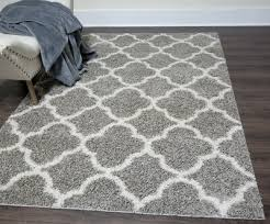 home dynamix gray contemporary trellis repeat ogee area rug geometric 7859 46 73