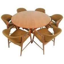 mid century modern teak dining set with westnofa chairs