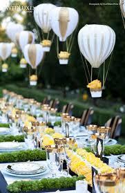 Mini hot-air balloon decoration for table - Great Wedding Reception Idea