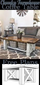 chunky farmhouse coffee table 300 best plans of woodworking diy projects images on