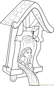 Small Picture Rapunzel in Castle Coloring Page Free Tangled Coloring Pages