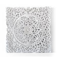 white bohomiean chic style home wooden panel wall hanging bali  on carved wood wall art white with buy balinese authentic wall hanging panel online