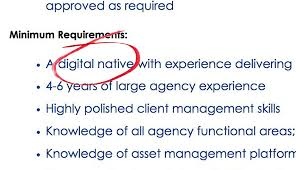 recruiting for digital natives is age discrimination lawyers wunderman a firm that is part of wpp posted this ad seeking a