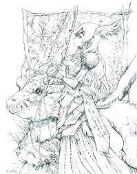 Fantasy Coloring Pages For Adults Tonyshume