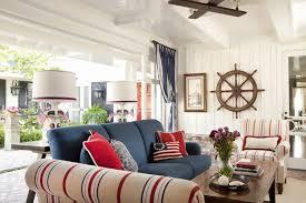 red white and blue interior design