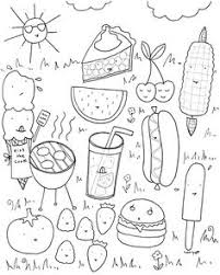 Cute Food Coloring Pages Wondrous Design Kawaii Food Coloring Pages