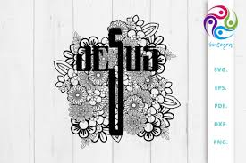 For cricut, silhouette or other cutting machines instant download you will receive. Floral Jesus Cross Svg File Graphic By Sintegra Creative Fabrica