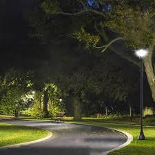 outsunny outdoor garden solar post lamp