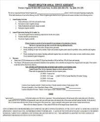 7 Yearly Contract Templates Sle Exle Free ~ Yearly Contract Template