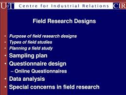 Types Of Field Research Design Ppt Purpose Of Field Research Designs Types Of Field