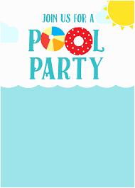 pool party invites free